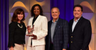 Harlene Johnson accepts Credit Union Hero of the Year Award