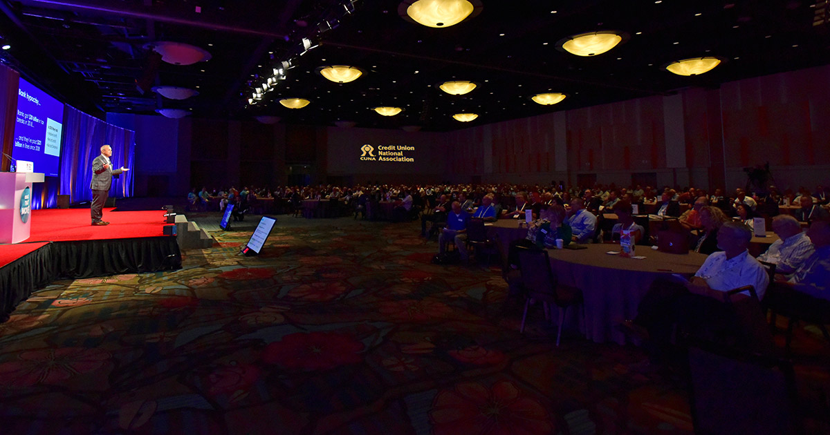 On the stage, on the floor at ACUC 2019
