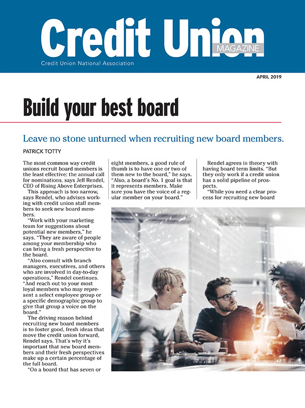 Build your best board | 2019-04-23 | CUNA News