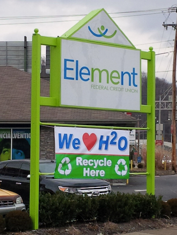 Element FCU recycling sign