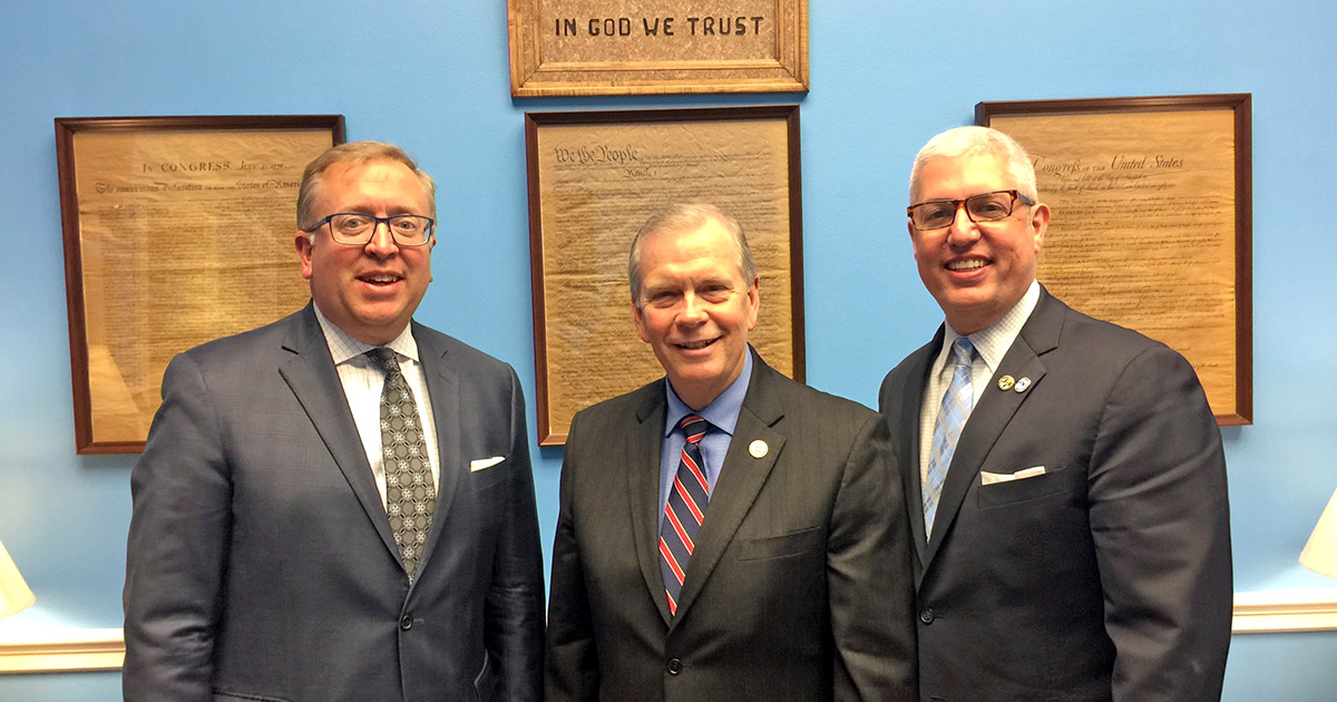 MCUL's Ross, bankers push for S. 2155 during D.C. visit