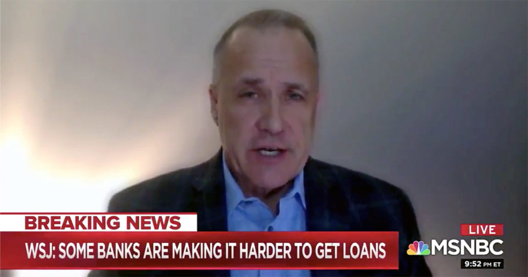 Nussle on MSNBC: CUs are 'financial first responders' to pandemic