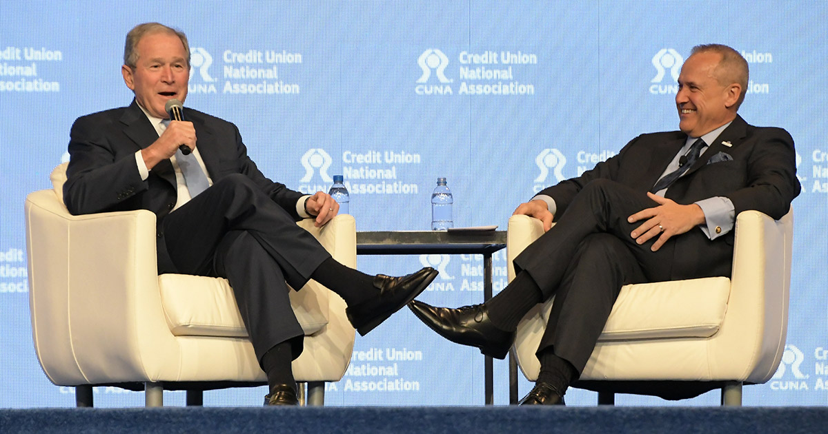 George W. Bush delivers message to GAC attendees