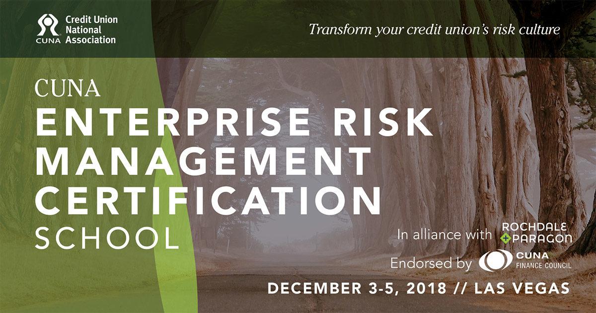 CUNA ERM Certification School set for Las Vegas   2018-08-20