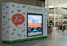 Money Machine Grabs Shoppers' Attention