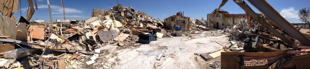 Tinker Federal Credit Union's branch in Moore, Okla., was decimated by the EF5 tornado that ravaged the area on May 20, 2013.