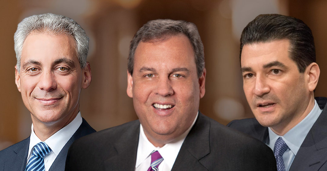 Rahm Emanuel, Chris Christie, and Scott Gottlieb
